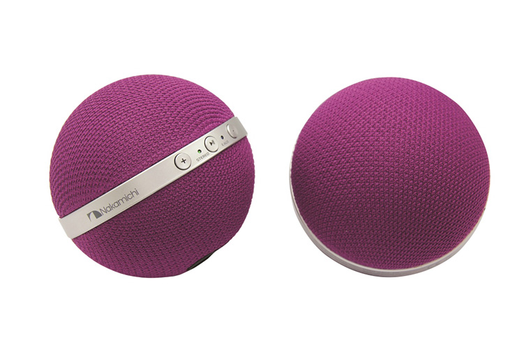 NBS10 Purple Speakers Front & Side View